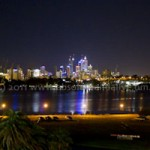 Perth at night photo