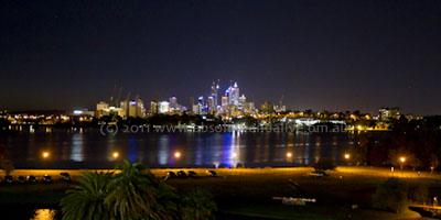 Perth at night photo